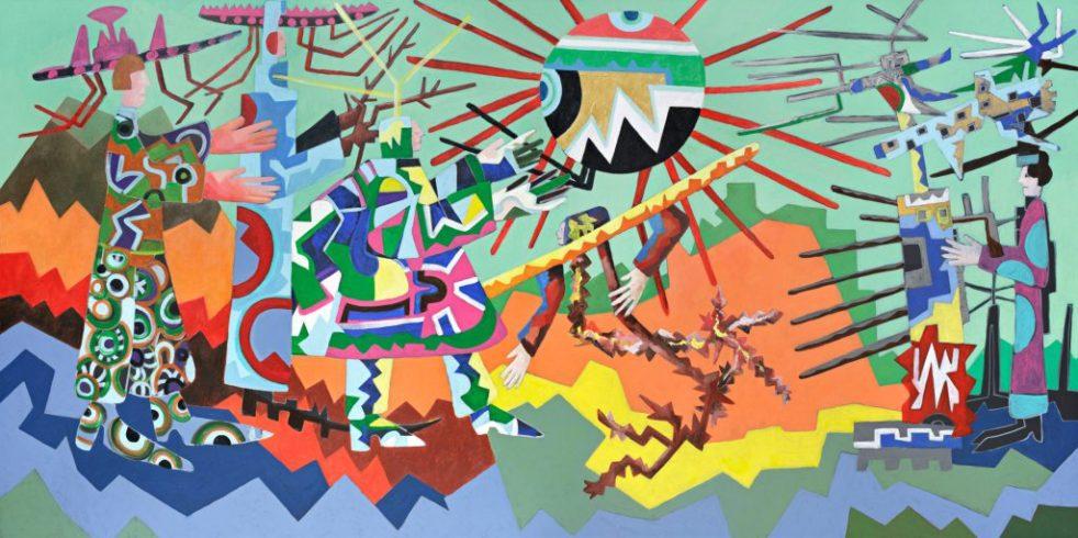The Peace Agreement, 2019, Acrylic/Canvas, 200 x 400 cm, Courtesy of the Artist, Foto: Hans-Georg Gaul