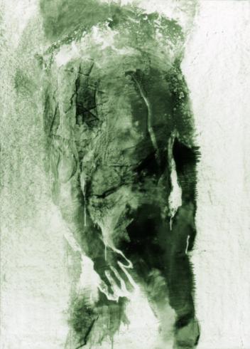 Akt 20, 2000, Grafit, Bleistift, 130 x 90 cm © und Foto: Piotr Sonnewend