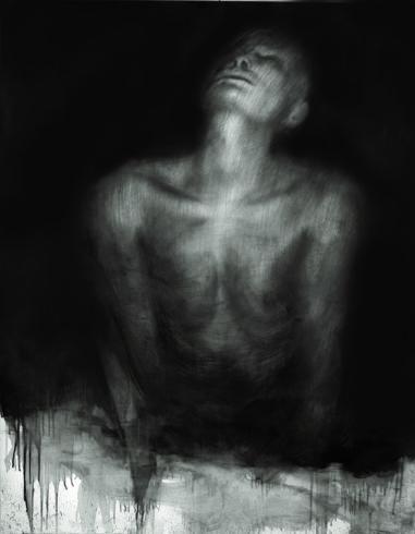 Akt 39, 2017, Grafit, Bleistift, 150 x 110 cm © und Foto: Piotr Sonnewend