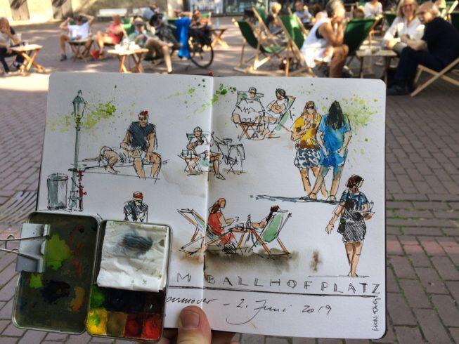 Jens Hübner Urban Sketching