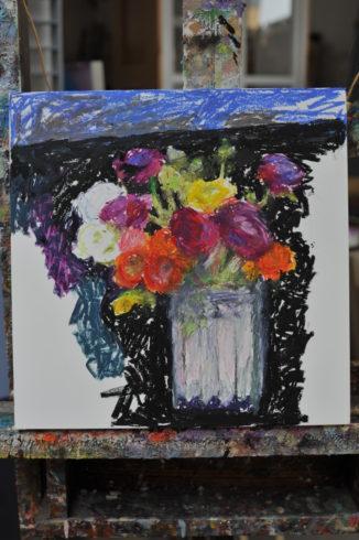 Ölbild Blumenbild