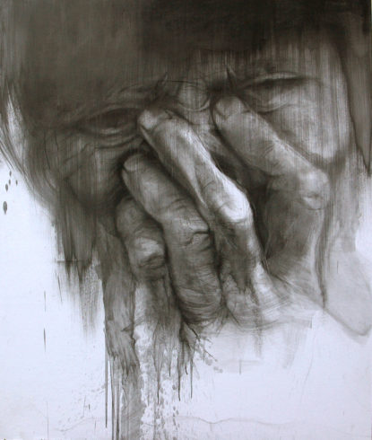 Porträt 2, 2019, Bleistift, Grafit, 145 x 100 cm © und Foto: Piotr Sonnewend