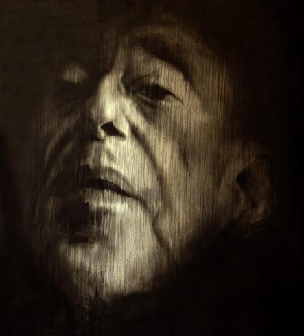 Porträt 3b, 2019, Bleistift, Grafit, 145 x 100 cm © und Foto: Piotr Sonnewend