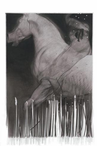 The Advant Garde, 2018, Kohle auf Papier, 100 x 70 cm © Ruprecht von Kaufmann, Foto: Stefan Maria Rother, Berlin