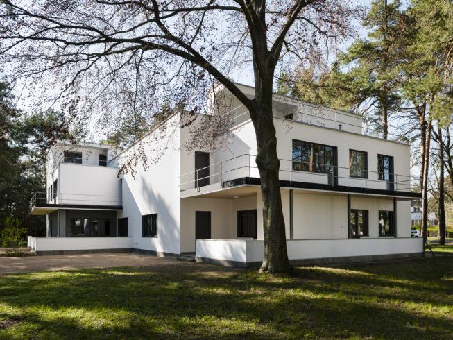 Meisterhaus Kandinsky/Klee – nach der Sanierung 2018/19, Außenansicht, 17.4.2019 © Stiftung Bauhaus Dessau, Foto: Thomas Meyer /OSTKREUZ