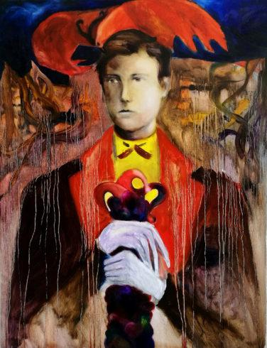 Arthur Rimbaud, 2019, Öl auf Leinwand, 130 x 100 cm, © und Foto: Yury Kharchenko