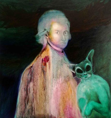 Mozart, 2019, Öl auf Leinwand, 120 x 100 cm, © und Foto: Yury Kharchenko