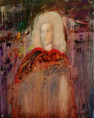 Tommaso Albinoni, 2019, Öl auf Leinwand, 100 x 80 cm, © und Foto: Yury Kharchenko