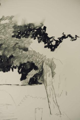 Bleistift Landschaftszeichnungen Ina Riepe 05