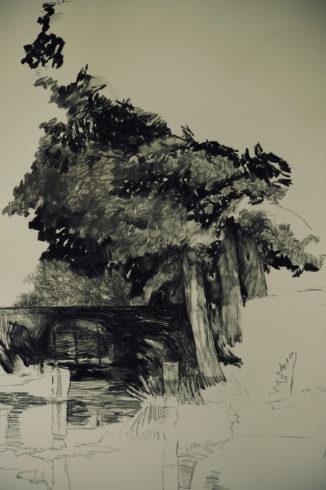 Bleistift Landschaftszeichnungen Ina Riepe 07