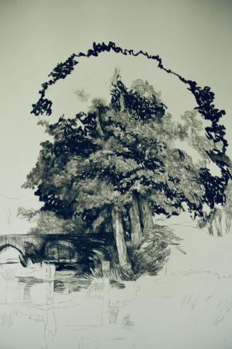 Bleistift Landschaftszeichnungen Ina Riepe 08