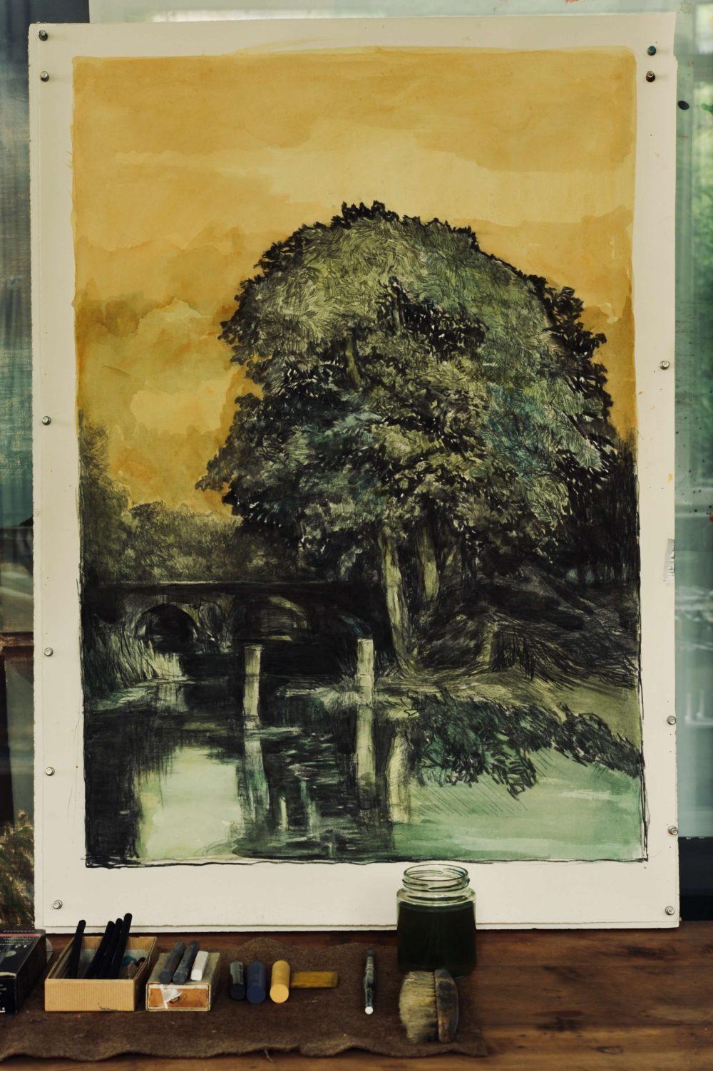 Bleistift Landschaftszeichnungen Ina Riepe 01