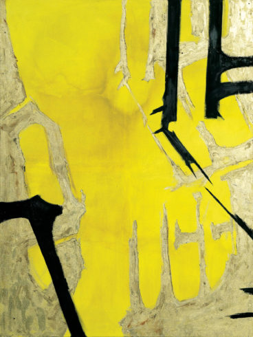 """Corona, 2019, Mischtechnik auf Leinwand, 200 x 150 cm (Serie """"Durchbrüche"""") VG Bild-Kunst, Bonn 2020/ Christine Westenberger, Foto: Christine Westenberger"""