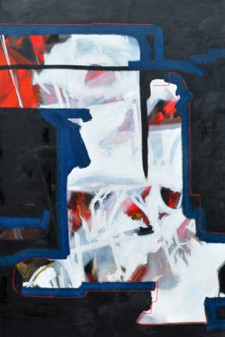 """Durchbruch, 2019, Öl auf Leinwand, 150 x 100 cm (Serie """"Durchbrüche"""") VG Bild-Kunst, Bonn 2020/ Christine Westenberger, Foto: Christine Westenberger"""