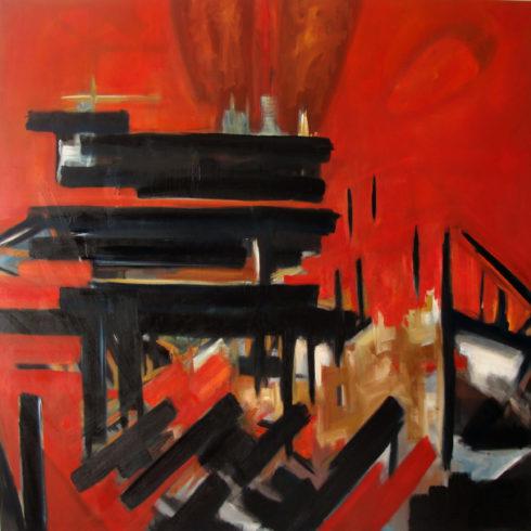 """Mephisto, 2012, Öl auf Leinwand, 160 x 160 cm (Serie """"Fragmente"""") VG Bild-Kunst, Bonn 2020/ Christine Westenberger, Foto: Christine Westenberger"""
