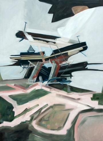 """Old Mine, 2012, Öl auf Leinwand, 200 x 140 cm (Serie """"Fragmente"""") VG Bild-Kunst, Bonn 2020/ Christine Westenberger, Foto: Christine Westenberger"""