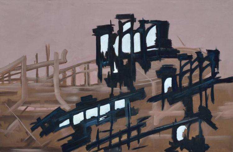 """Pandora, 2016, Öl auf Leinwand, 250 x 150 cm (Serie """"Fragmente"""") VG Bild-Kunst, Bonn 2020/ Christine Westenberger, Foto: Christine Westenberger"""
