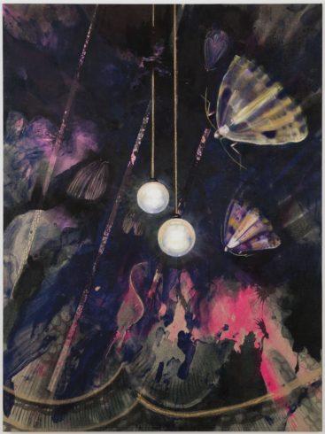 Show Down, 2019, Acryl, Öl, Ölkreide, Tusche auf Leinwand, 200 x 150 cm VG Bild-Kunst, Bonn 2020 / Stephanie Pech, Foto: Eric Lichtenscheid