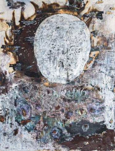 Arkadien, 2018, Grafit, Ölkreide und Feuer auf Bütten auf Holz, 200 x 152 cm VG Bild-Kunst, Bonn 2020/ Horst Thürheimer, Foto: Felix Weinold