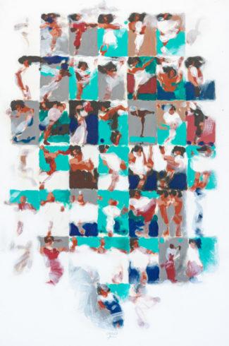 08063, Szenen, 2008, Öl auf Nessel, 100 x 70 cm, Fotografie © Wolfgang Blanke