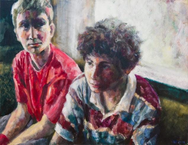 Freunde, Acrylfarbe auf Leinwand, 100 x 130 cm, 2006