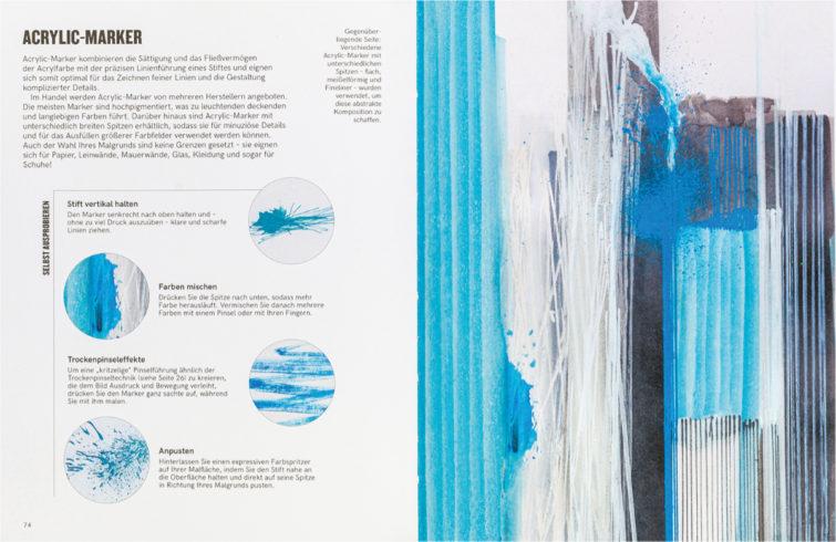 Acryl   Lust auf Kunst Doppelseite aus dem Innenteil