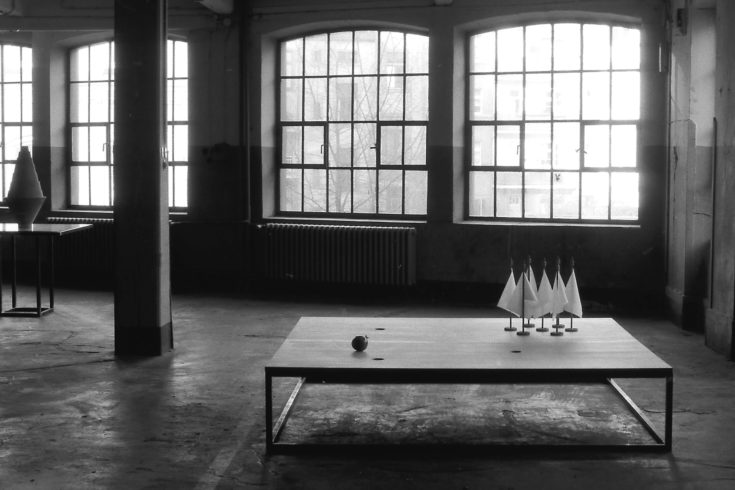 O.T. (Hope, Fear & Responsibility), Atelieransicht 1989
