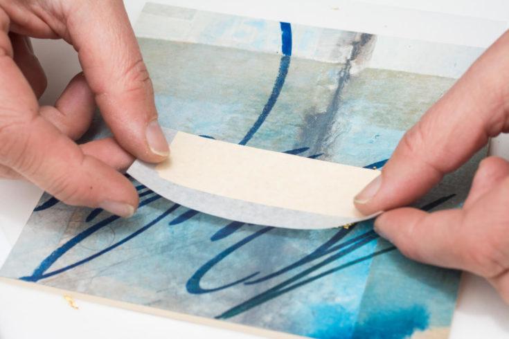 Faserstift trifft Transfergold: Schritt für Schritt zum Materialmix 04