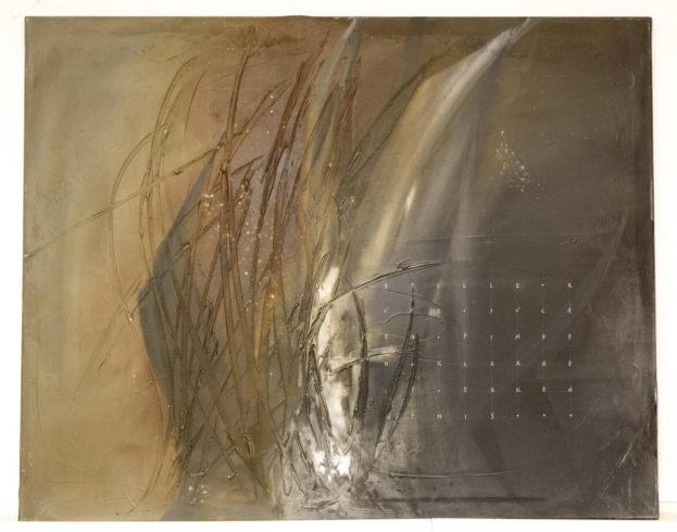 """""""Suchen und Finden"""" 100 x 80 cm, Leinwand, Acrylmischtechnik mit Spachtelmasse, 2013"""