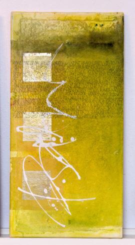 """""""Psalm"""" 30 x 60 cm, Collage mit handgeschöpften Papieren, Acrylmischtechnik auf Leinwand, 2013"""