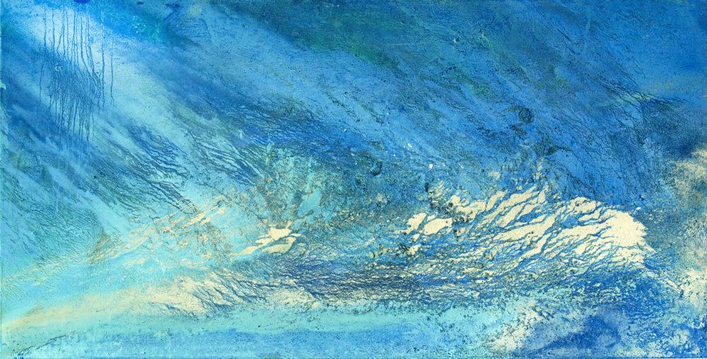 Chott el Djerid | Salz, Sedimente, Schlamm, Farbpigmente, Binder | 100 x 200 cm | 2009
