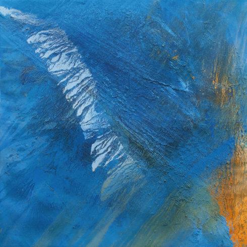Wahiba | Sand der Wahiba Sands (Oman), Farbpigmente, Binder | 150 x 150 cm | 2012