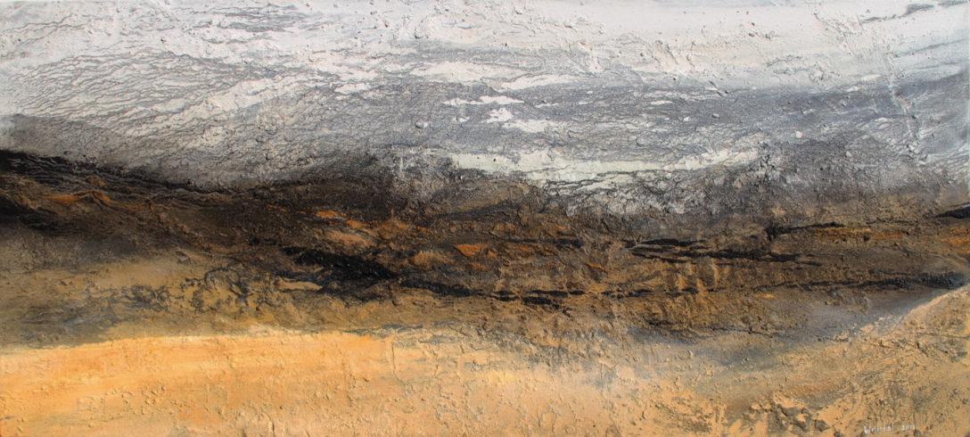 Al Ain | Sand der Rub al Khali (VAE), Farb pigmente, Binder | 90 x 190 cm | 2015