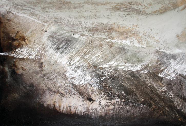 Moreeb | Sand der Rub al Khali (VAE), Farb pigmente, Binder | 130 x 200 cm | 2016