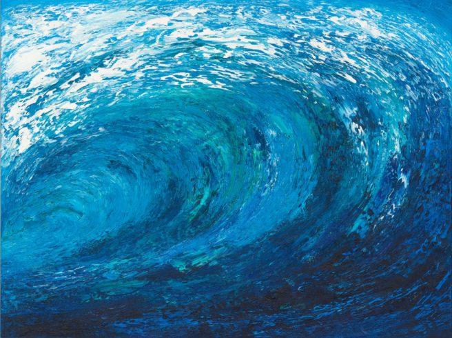 Welle, 2000, Öl auf Leinwand, 180 x 240 cm – Besitz des Künstlers © VG Bild-Kunst, Bonn 2021 / Ansgar Skiba, Foto: VG Bild-Kunst, Bonn 2021/ Olaf Bergmann