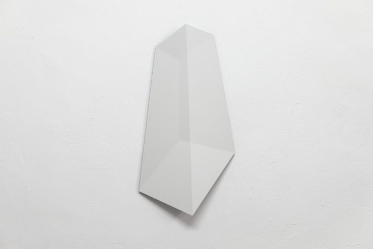 Cube04a, 2018, digital print, resin, high pressure laminate, 56 x 28 x 5 cm Foto: Peter Wackernagel
