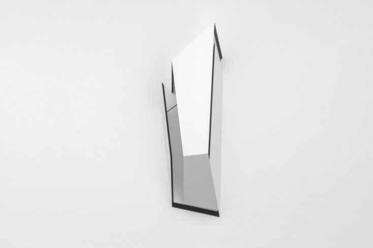 Cube06b, 2014, high pressure laminate, 60 x 15 x 20 cm Foto: Peter Wackernagel