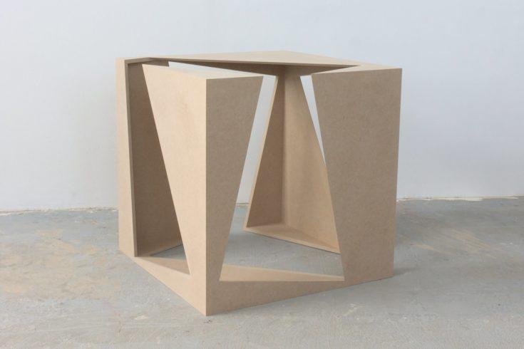 Two Cubes 2, 2011, fibreboard, 50 x 50 x 50 cm Foto: Peter Wackernagel
