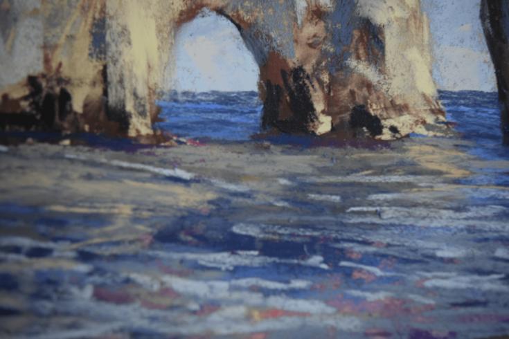 """""""A Way Through"""" (Detail), 40 x 50 cm, Pastell auf Papier, 2021"""