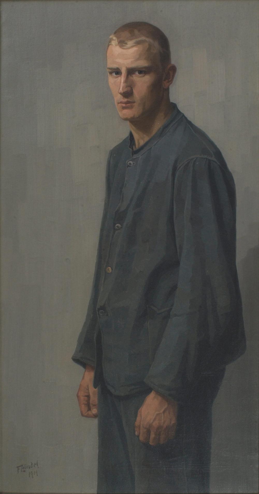 Georg Friedrich Zundel: Bildnis eines Schlossers, 1901, Privatsammlung © Nachlass Georg Friedrich Zundel