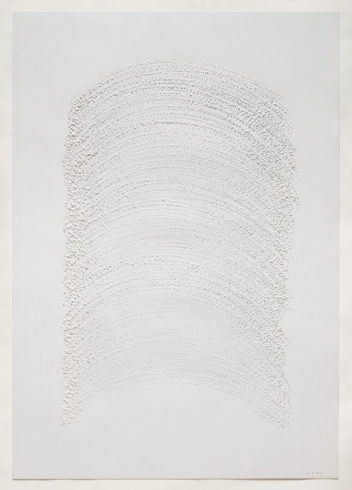 """2 X 84/2"", Papier, gerissen, 100 x 70 cm, 1984 Foto: Sascha Fuis, © Oskar Holweck Nachlass, Courtesy Gallery Martin Kudlek, Köln"