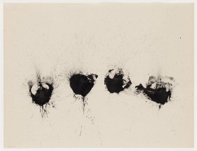 """30/II 58"", Tusche auf Papier, 50 x 65 cm, 1958 Foto: Sascha Fuis, © Oskar Holweck Nachlass, Courtesy Gallery Martin Kudlek, Köln"