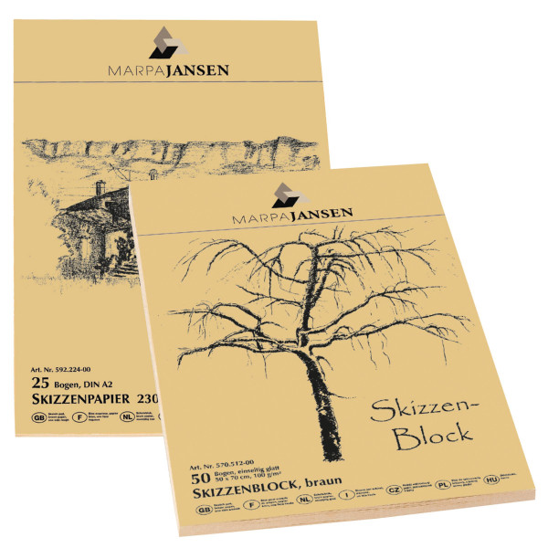 Marpa Jansen Altpapier-Skizzenblock