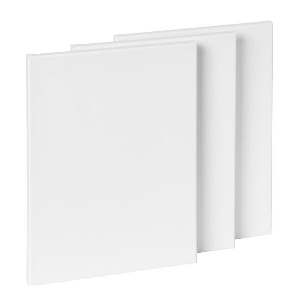 Eco Plus Bespannter Keilrahmen im 3er-Pack, 30 x 40 cm