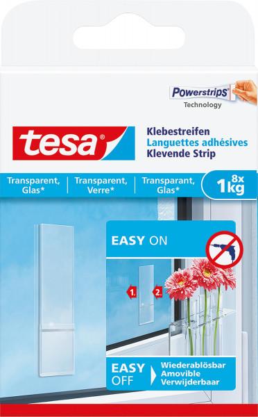 Tesa Klebestreifen/transparente Oberflächen + Glas