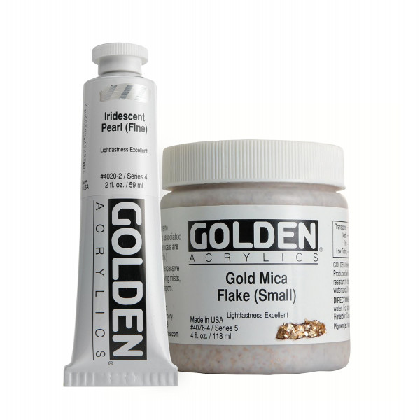 Golden Heavy Body Acrylics | Iridescent Colors