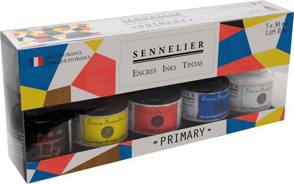 MONAT_2020-11_Nov: Sennelier Schellacktusche-Set | Primärfarben