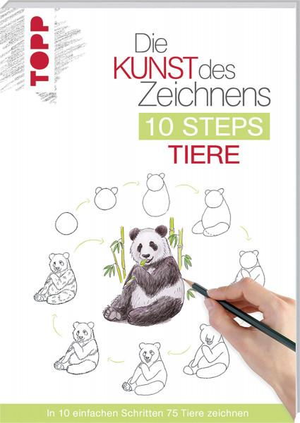 Die Kunst des Zeichnens – 10 Steps Tiere   frechverlag