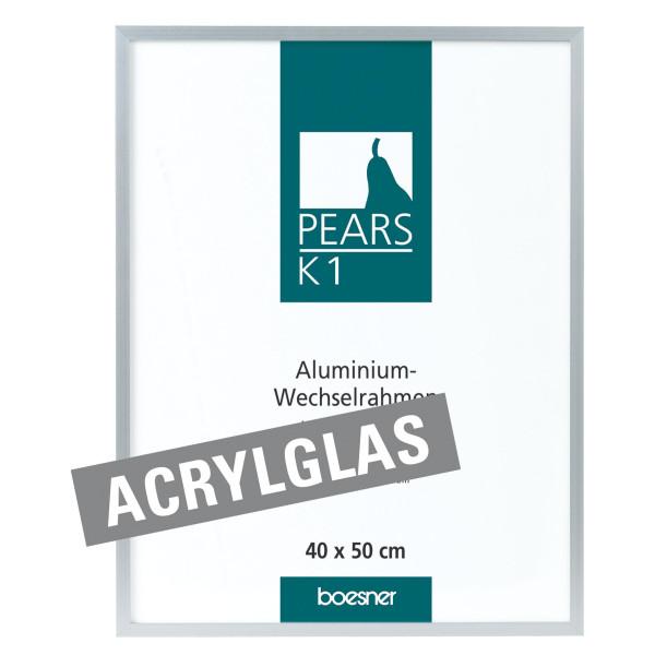 Boesnertest Pears K1 Aluminium-Wechselrahmen mit Acrylglas