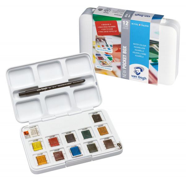 Royal Talens – Van Gogh Pocket Box mit 12 ½ Näpfchen Allgemeine Farbauswahl